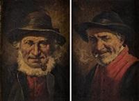 fumador y anciano con pipa (pair) by roman arregui