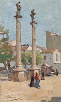 alameda de hercules, seville, spain by john lavery