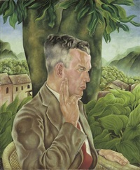 männerbildnis (will grohmann?) by arthur goetz