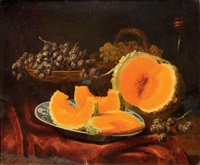 melon et raisin by elie joseph laurent