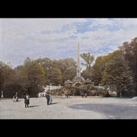 schonbrunn - fontana dell'obelisco by josef löwy