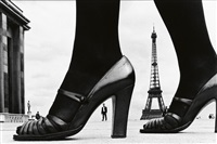paris, shoe and eiffel tower a by frank horvat