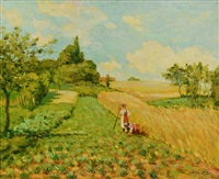 impressionist european landscape by omar hamdi