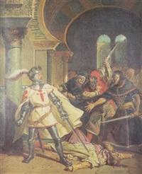 el intrépido comendador don juan de hera en la alhambra de granada by josé maria rodríguez de losada