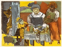 the family (from an american portrait) by romare bearden