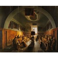 monaci nella certosa di padova by vincenzo abbati