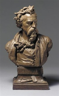 bust of carpeaux by ernest eugene hiolle