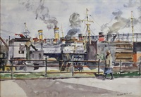 dockside by reginald marsh