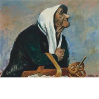 the pretzel vendor by william gropper