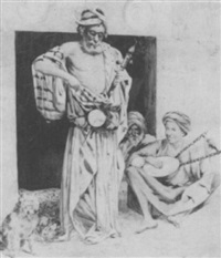 street musicians by g. fortunati