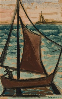 sailboat by blanche lazzell
