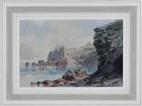 coastal scene by xanthus russell smith