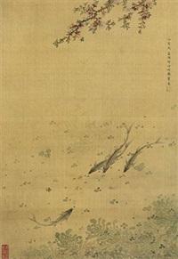荷花游鱼 by ma quan