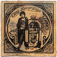 jonsey jukebox album cover by shepard fairey