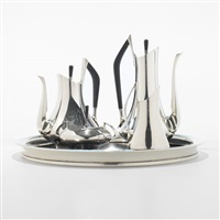 coffee service from the circa 70s series (set of 5) by donald colflesh