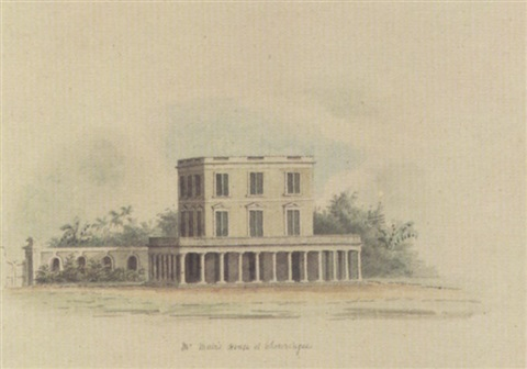 mr muirs house at chowringhee calcutta by hubert cornish