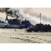 switching yard in pittsburgh by lawrence blazey