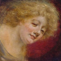 porträt eines jungen mädchens by eduard daelen