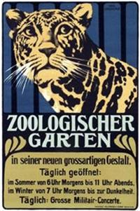 zoologischer garten (poster) by hans lindenstaedt