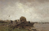 the ferry boat by jacob henricus maris