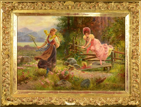 picking wild berries by hans zatzka