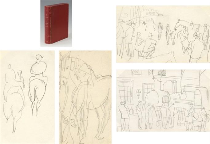 les centaures et les jeux by jean de la varende by raoul dufy