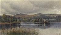 rowboat in marshland by william adam