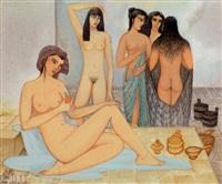 femmes au hammam by jellal ben abdallah