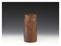 bizen flower vase by yamamoto toshu