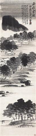 雨后云烟 (the view after rain) by qi baishi