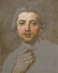 portrait of a man, bust-length, probably a self-portrait by french school (18)