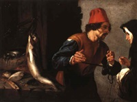the fish seller by orazio fidani