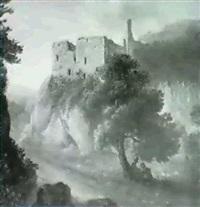 das ehemalige schloss schwarzenberg in neuwaldegg by julius abbiati