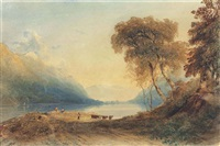 loch etive, west scotland by copley fielding