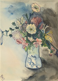 untitled (flowers in vase) by alice neel