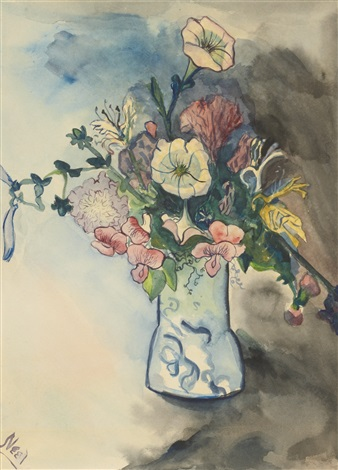 untitled flowers in vase by alice neel