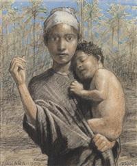 beduine aus jericho, frau aus sakkara (2 works) by johann victor kramer