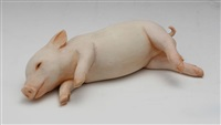 pig (sleeping) by yoshimasa tsuchiya
