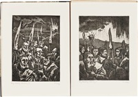 bauernkrieg 1926 (portfolio of 6) by aloys (wachlmayr) wach