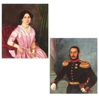 portretul de familie al sublocotenentului emanoil boteanu și al soției sale zoe boteanu panaitesku by niccolo livaditti