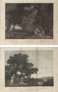 shooting, plate iii (+ shooting, plate iv; 2 works) by william woollett