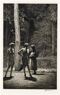 under the street lamp by martin lewis