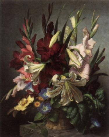 still life of flowers by john e nicholls