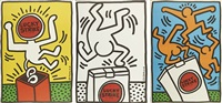lucky strike (set of 3) by keith haring