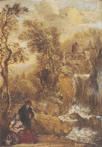 the rest on the flight into egypt by gerrit (gerard) battem