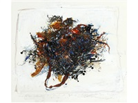 scottish seaweed from the beach at portaria cuthaig saddle bay kintyre by kurt jackson rwa