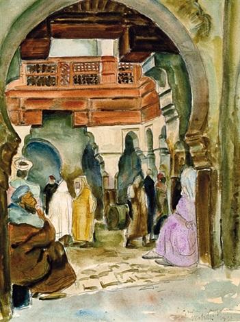 caravansérail à meknès by andré jacquemin