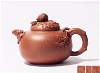 松鼠葡萄壶 (a teapot) by ji yishun