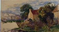 paysage de campagne (sketch) by paule gobillard