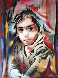 portrait of a child by dan groover